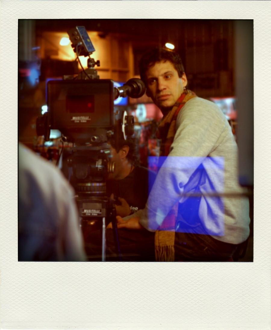 Arauco Hernández fotografiado por Magela Ferrero durante el rodaje de \'Gigante\'